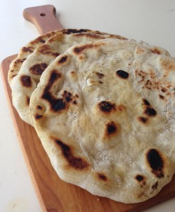 Voilà! Soft, chewy, delicious naan.